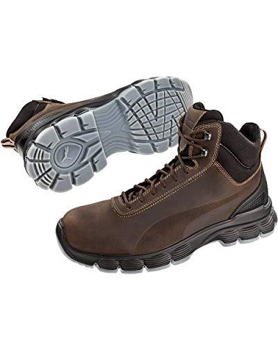 Puma Safety Shoes Condor Mid S3 ESD SRC, Puma 630121-204 Unisex-Erwachsene Sicherheitsschuhe, Braun (braun/schwarz 204), EU 43