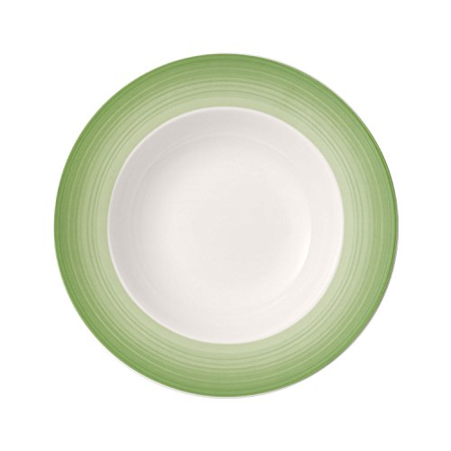 Villeroy & Boch Colourful Life Green Apple Plato hondo, 25 cm, Porcelana...