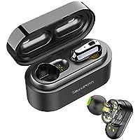 Auriculares Inalámbricos Bluetooth 5.0 TWS SoundPEATS Truengine Mini True Wireless Cascos IPX6 con Micrófono Dual Drivers Audífonos In-Ear Manos Libres para iPhone, Android, TV y PC (Negro)