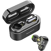 Auriculares Inalámbricos Bluetooth 5.0 TWS SoundPEATS Truengine Mini True Wireless Cascos IPX6 con Micrófono Dual Drivers