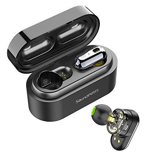 e58a284d899 Auriculares Inalámbricos Bluetooth 5.0 TWS SoundPEATS Truengine Mini True Wireless  Cascos IPX6 con Micrófono Dual Drivers