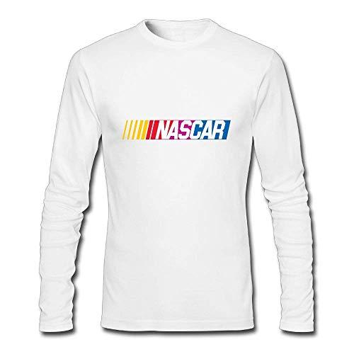 Mens Shirt NASCAR T-Shirt Casual Baumwolle Tee Shirts Langarm Tee Shirts für Herren Jugend Jungen/Teen Jungen T-Shirt Weiß M
