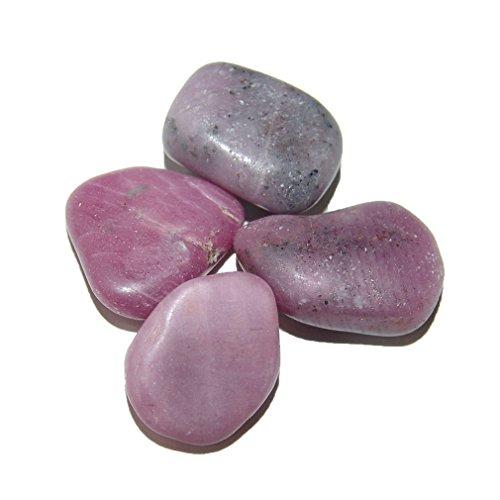 Rubin 10 -15 g, Trommelsteine, ca. 2 - 3 Steine, Handschmeichler Wassersteine