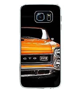 Fuson Stylish Orange Car Designer Back Case Cover for Samsung Galaxy S6 Edge+ :: Samsung Galaxy S6 Edge Plus :: Samsung Galaxy S6 Edge+ G928G :: Samsung Galaxy S6 Edge+ G928F G928T G928A G928I (Bike Car Auto Scooter Automobiles)