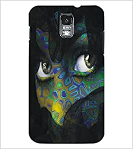 PrintDhaba Daring Eyes D-5446 Back Case Cover for SAMSUNG GALAXY S5 (Multi-Coloured)