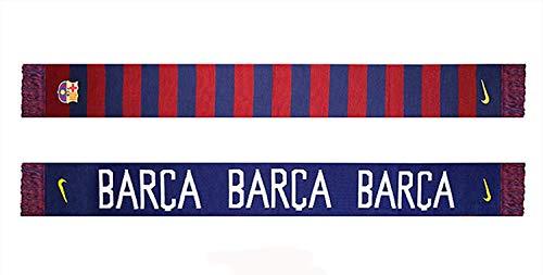 Nike Global F.C. Barcelona - Bufanda 5 x 13 x 22 cm, diseño de fútbol, Color Rojo y Azul