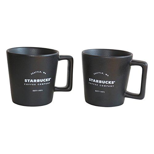 Starbucks Expresso Cup Royal Black 1971 est Mug Espresso Lot Demitasse (2)