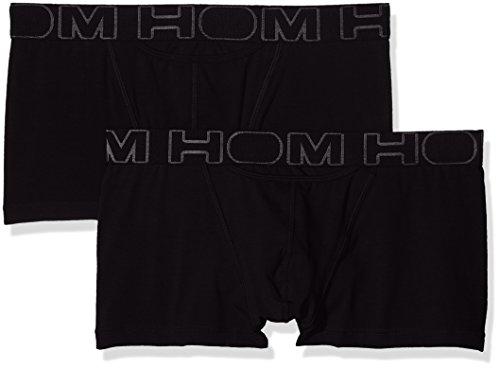 HOM Herren Boxershorts 2er Pack Schwarz (black V001)