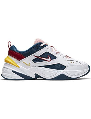 Nike Damen M2k Tekno Leichtathletikschuhe, Mehrfarbig (Blue Force/Summit White/Chrome Yellow 402), 39 EU