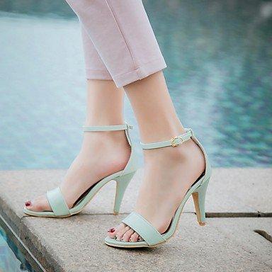 LvYuan Da donna Sandali Finta pelle PU (Poliuretano) Estate Autunno Footing Fibbia A stiletto Bianco Nero Blu Rosa 7,5 - 9,5 cm blushing pink