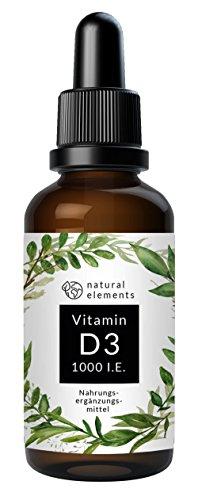 Der PREIS-LEISTUNGS-SIEGER 2018* - Vitamin D3 - Laborgeprüfte 1000 I.E. pro Tropfen - 50ml (1750 Tropfen) - In MCT-Öl aus Kokos - Hochdosiert und hergestellt in Deutschland