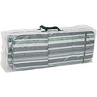 Greemotion Schutzhülle für Auflagen wasserabweisen mit Ösen, Transparent, 125x50x32cm