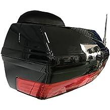 Baul rigido para Moto Custom de 38 litros de Capacidad. Color Negro Brillo. Capacidad