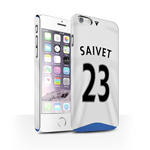 Offiziell Newcastle United FC Hülle / Matte Snap-On Case für Apple iPhone 6S / Pack 29pcs Muster / NUFC Trikot Home 15/16 Kollektion Saivet