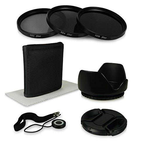 55 6in1 Accessori Bundle Kit per Fotocamere Canon EOS 1100D 550D Sony Alpha 100 200 230 290 330 Alpha 7 Sony Alpha SLT 33 SLT 35 SLT 37
