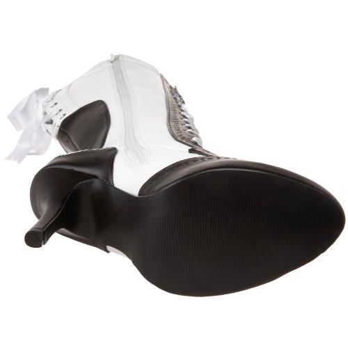 Pleaser Tem126/Rb/Pu Damen Kurzschaft Stiefel Weiß