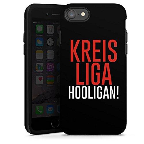 Apple iPhone X Silikon Hülle Case Schutzhülle Kreisliga Hooligan Fußball Tough Case glänzend
