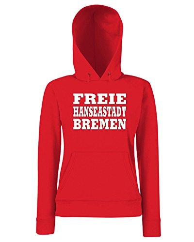 T-Shirtshock - Sweats a capuche Femme WC0841 FREIE HANSEASTADT BREMEN GERMANY LAND CITY Rouge