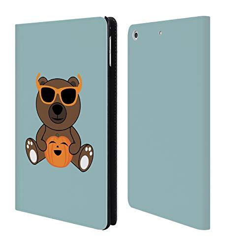 Head Case Designs Offizielle PLdesign BAER Haltender Kuerbis Halloween Brieftasche Handyhülle aus Leder für iPad Mini 4