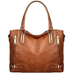 AB Earth - Bolso estilo cartera para mujer,M866 (marrón)