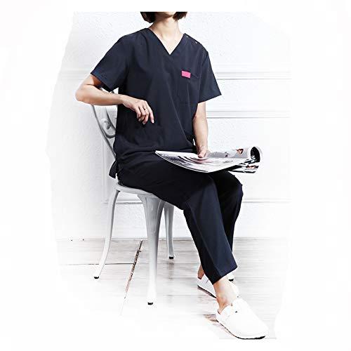 CX ECO Medizinische Uniformen Unisex mit V-Ausschnitt Peeling-Oberteil Revolution Medical Scrubs Pants Ultraweiche Anti-Falten-Oberteile mit 3 Taschen,S -