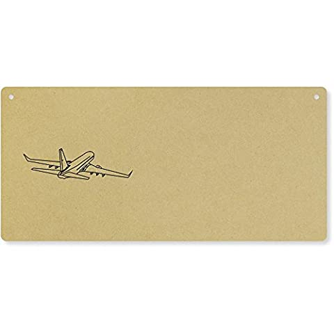 'Jumbo Jet' Large Wooden Wall Plaque / Door Sign (DP00011621)