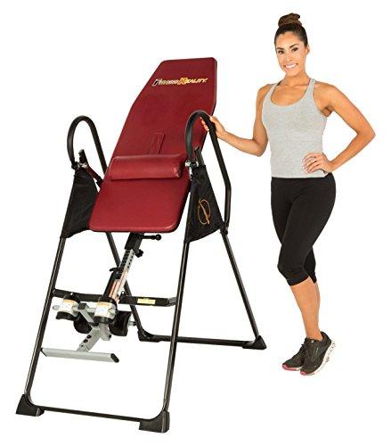 Fitness Reality 790XLT Table d'inversion avec coussins de dos, pour personnes de grande taille jusqu'à 1,98 m, poids maximum utilisateur 136 kg, inversion verticale complète jusqu'à 180 degrés