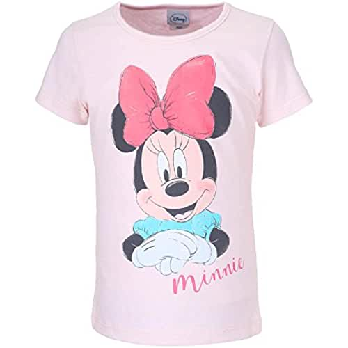 DISNEY Niñas Minnie Mouse Camiseta, rosa