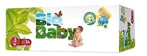 Bio Bébé Couches Biodégradables Taille 3–Lot de 34