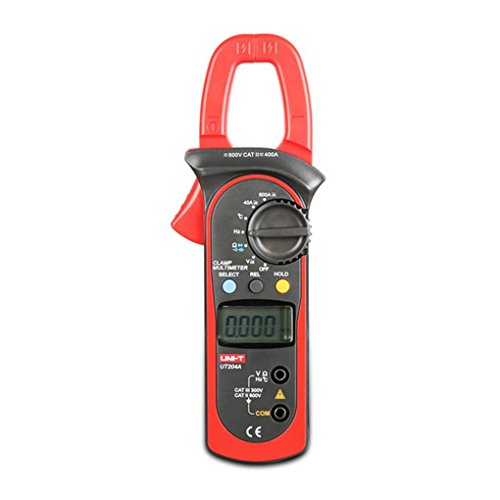 Unit Digital Clamp (UNI-T UT204A Digitales Clamp Multimeter 400-600A Auto Range Resistance Kapazitäts und Temperaturmessung)