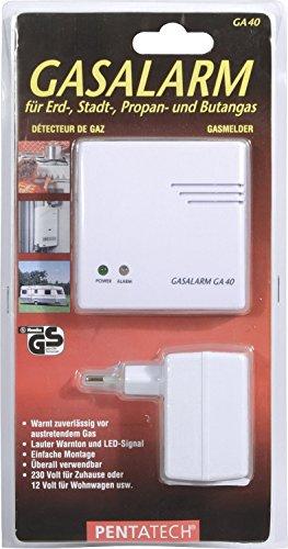 Pentatech - Allarme rilevatore fughe di gas, 12 V...