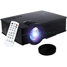 GBlife GP-9 LED Proyector Portácil, 2000 Lúmenes 1920 x 1080 Pixeles, Digital TV Multimedia para LCD-Vídeogame/ Cine en Casa/ Laptop/ PC/ SD Karte/ Play Station/ TV Box/ Xbox/ USB Disk(Negro)
