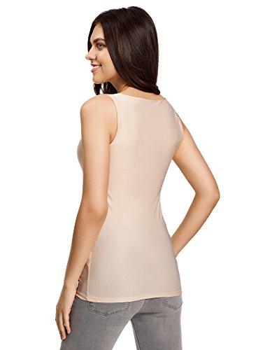 oodji Collection Damen Jersey-Top Basic Elfenbein (5400N) ...
