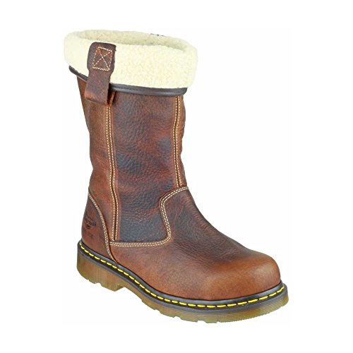 Dr. Martens Ladies Rosa Leather Work Safety Rigger Boots Brown (Safety Boot Martens)