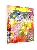 Abstraktes Gemälde 2-40x50 cm - Textil-Leinwandbild auf Keilrahmen - Wand-Bild - Kunst, Gemälde, Foto, Bild auf Leinwand - Abstrakt
