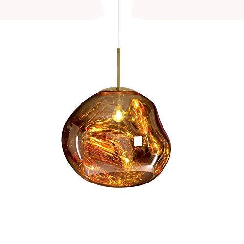 Kronleuchter Eisen Pendelleuchten, postmoderne LED Glas Unregelmäßige Lava Deckenleuchte Nordic Bar Wohnzimmer Esstisch Pendelleuchten Kreative Cafe Wohnzimmer Mini Kronleuchter (Color : Gold-20cm) - Stehlampe, Lava-lampe