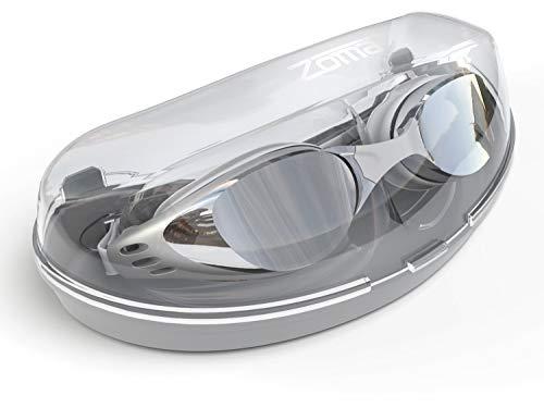 Jasbo Schwimmende Schutzbrille mit Antifog Technologie für Frauen und Männer - Kundengerechte Nasen-Brücke für den vollkommenen Sitz für Erwachsene und Kinder