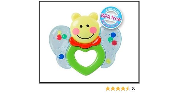 PREMYO Schmetterling Bei/ßring f/ür Babys Silikon Greifling Zahnungs-Hilfe Lindert Schmerzen Massiert Zahnfleisch F/ördert Motorik Tastsinn BPA Frei