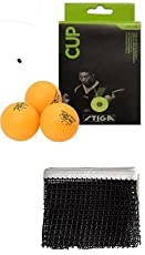 combo- table tenis net and 1 stiga cup( pack of 6) table tenis ball