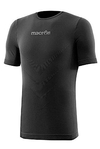 Maglietta Maniche Corte Sportiva T-Shirt Tecnica Intimo Macron Performance Nero