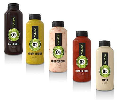 Nutriful Sauce Mix Box 0% Fett und Zucker (5x 265 ml) Testpaket