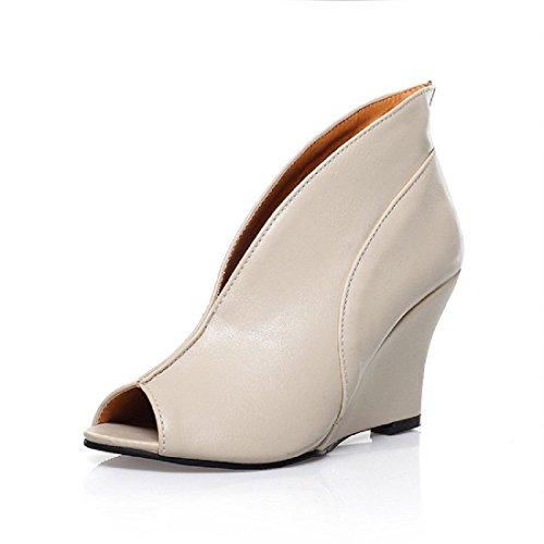 Femmes Talons hauts Personnalité Bouche de poisson Chaussures décontractées Chaussures de loisirs Des sandales White
