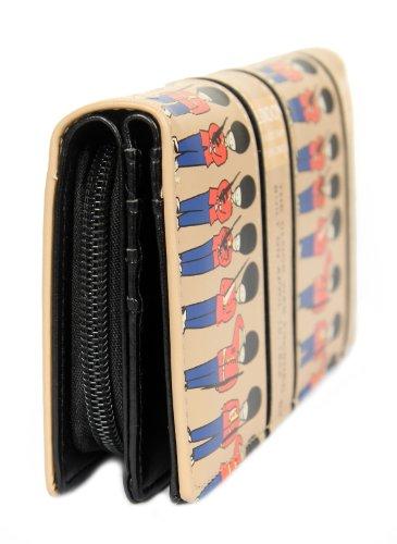 FreshGadgetz Set 1 Schwarz und weiße Handtasche für Damen Beige Soldat Geldbörse