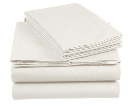 AmazonBasics 'Everyday' Bettwäscheset aus 100% Baumwolle, Elfenbein 155x220cm & 2 Kissenbezüge 80x80cm