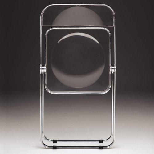 Castelli Plia – Sedia pieghevole, trasparente, con base cromata con ...