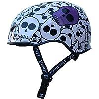 HardnutZ casco de ciclo de HN102calle niños, Infantil, color blanco/morado/negro, tamaño 51-54 cm