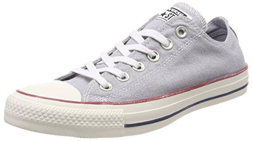 Converse Chuck Taylor Ctas Ox Cotton, Scarpe da Fitness Unisex-Bambini, Grigio (Wolf Grey/Wolf Grey/White 097), 38 EU