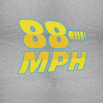 Planet Nerd - 88 MPH Time travelling Speed - Herren T-Shirt Grau Meliert