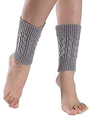 Malloom® Tejer calcetines cortos calentadores de la pierna cubierta de arranque polainas