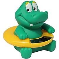 Thermo Bath - Ularma Lindo Bebé Animales Bebé Baño Tina Termómetro Temperatura Probador Juguete Del Agua (Verde)